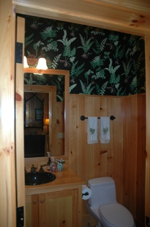 Mountain powder room